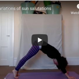 mini sun salutation sequence to move the spine  megan